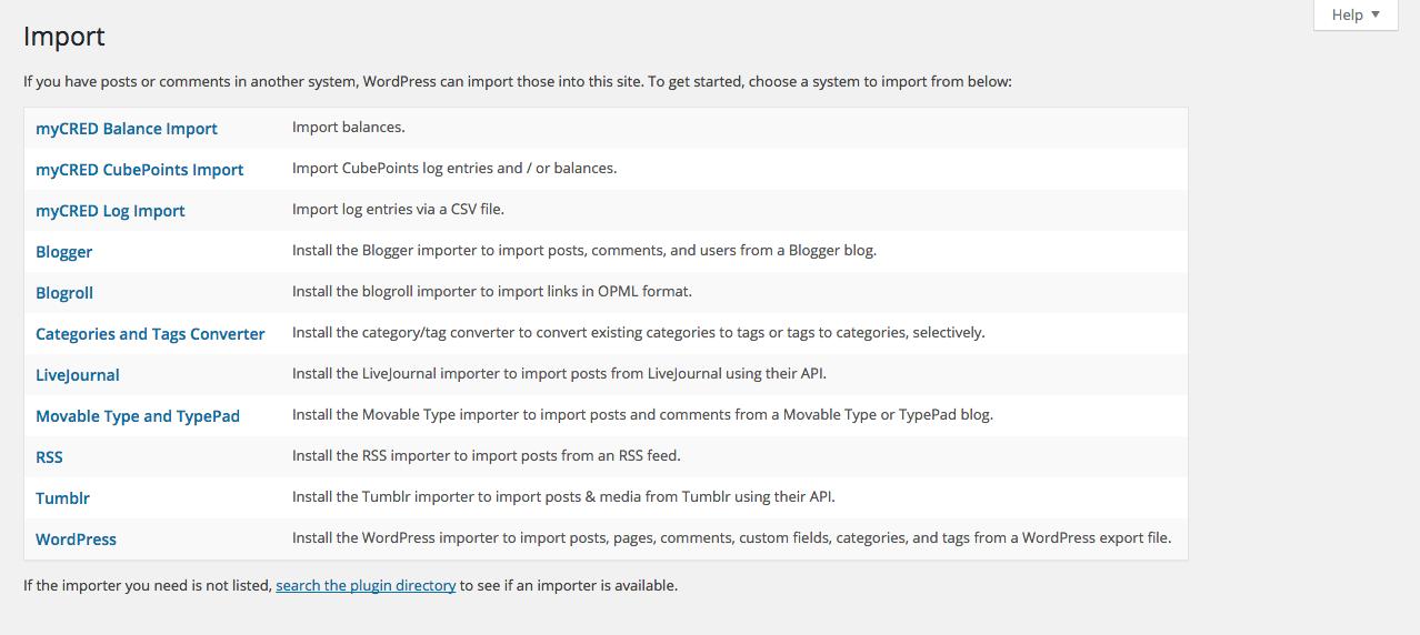 Import List