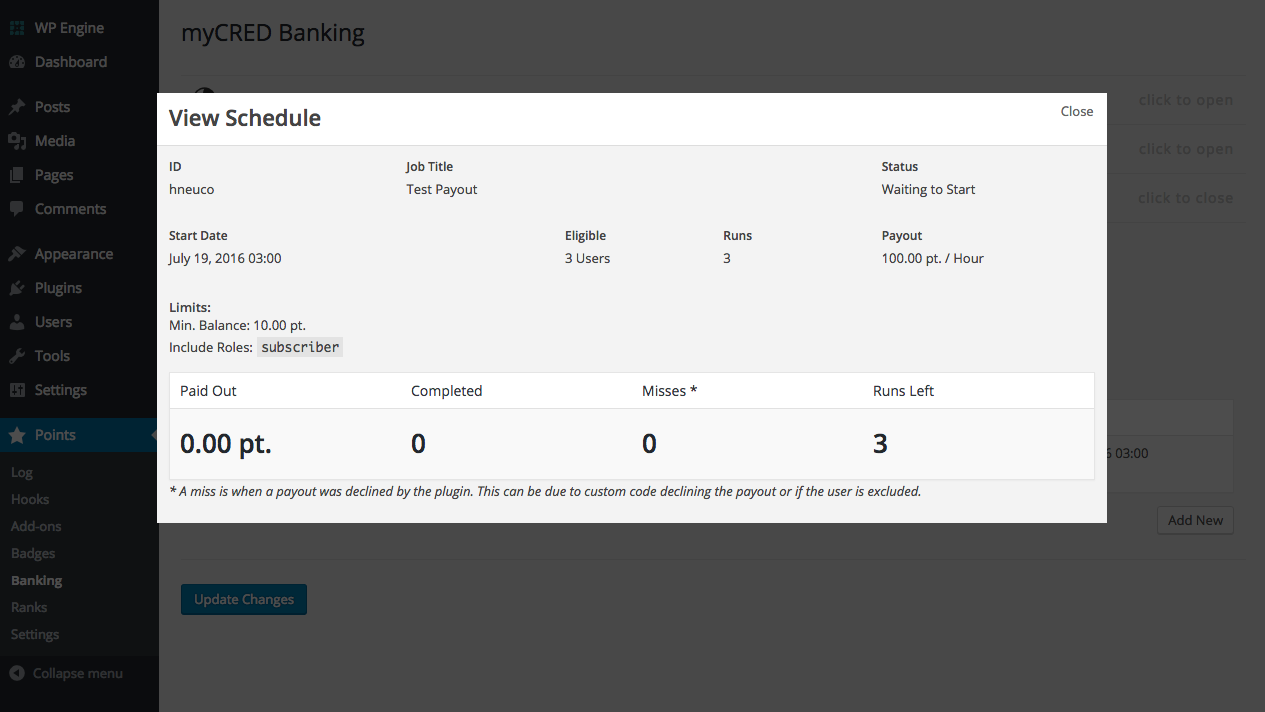 You can always check the latest status of any recurring payout.