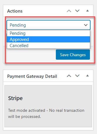 status update stripe cashcred